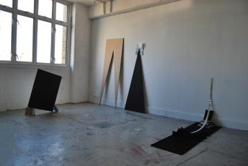"""""""Reflection II"""",Installation view, Hackney Wick open studio"""