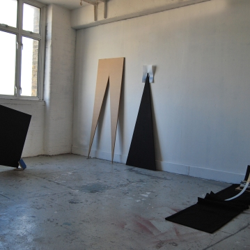 """Reflection II"",Installation view, Hackney Wick open studio"