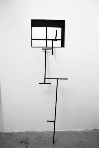 """Structure"",2012-2013,structure and mirror.cm.178x40.6x30"