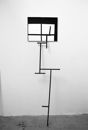 """""""Structure"""",2012-2013,structure and mirror.cm.178x40.6x30"""