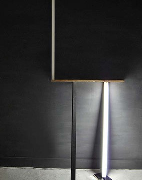 """Where I can find my self reflection"", Installation on wall,Wood elements,light,cm.""260x100x40"""
