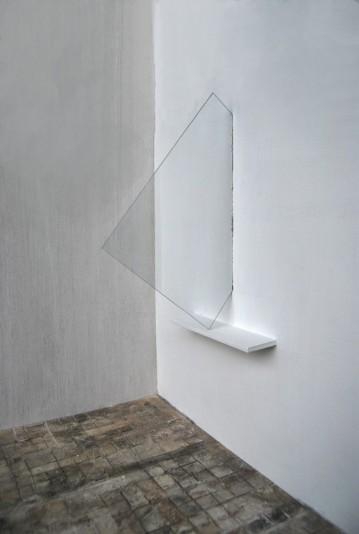 """""""Window"""",2011, Installation,glass wood,cm.""""190x70x80"""""""