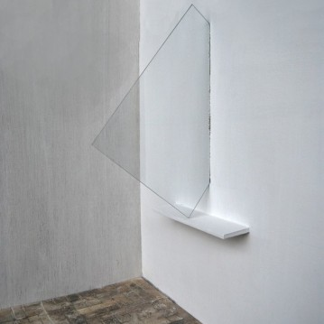 """Window"",2011, Installation,glass wood,cm.""190x70x80"""