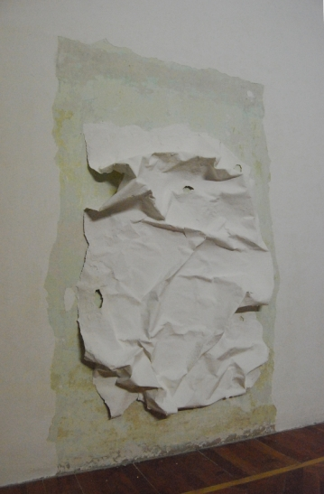 """""""Distacco"""",2009,Intervention on wall, dimensions variable"""