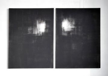 """""""Untiled"""",2013,acrylic on canvas,diptych,cm.60x80 each"""