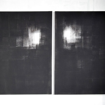 """Untiled"",2013,acrylic on canvas,diptych,cm.60x80 each"
