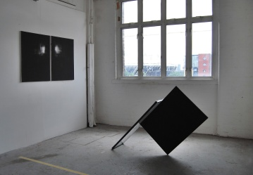 """""""Suspended time""""Part of the window,canvas, overall size 150x40x80 cm."""