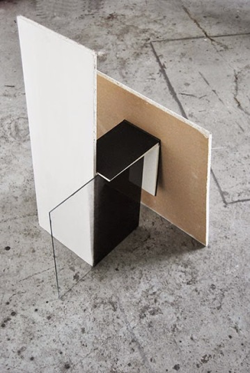"""InBetween"",2013,wallboard,sketchbook,glass"