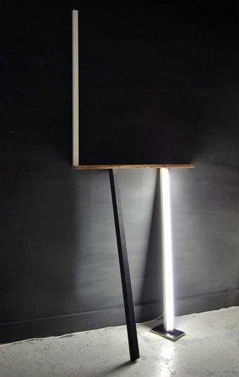 """""""Where I can find my self reflection"""", Installation on wall,Wood elements,light,cm.""""260x100x40"""""""