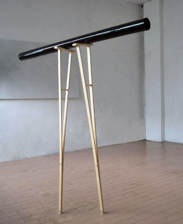 """Zona d'ombra sospesa"",2010,Installation,wood elements,acrylic sheetand paper,cm.""160x160x60"""