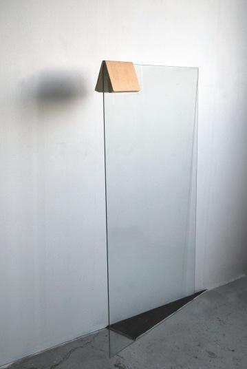 """Untitled"",2014,installation,wall board,glass sketchbook"