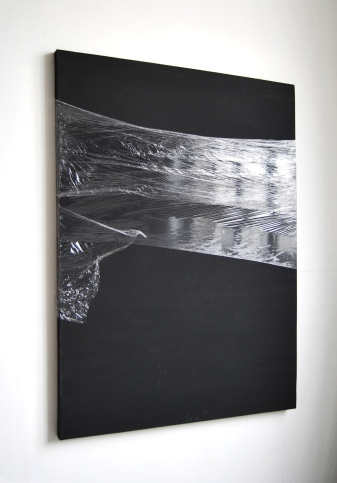 """""""Remainder"""",2014, cling film on canvas"""