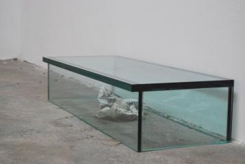 Step (un gesto fatto forse di troppe attese e pretese), 2010, glass, project on paper, cm.80x18x24