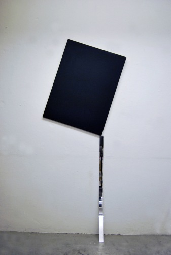 """Untitled"",2014,Canvas,acrylic mirror,cm.""180x70x10"