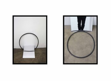To look,To do,To undergo,2016, Diptych giclee print on Hahnemuhle Museum paper, cm.59.4x42x3 (each) framed ed.of 3