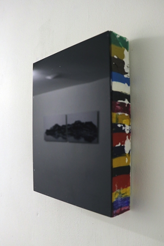 Intermezzo,2010,oil on canvas, black glass,cm18x24x4