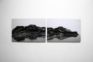 DBL Iceberg,2017, print on aluminium, diptych, cm 45x67 each (ed.of 3+1Ap)