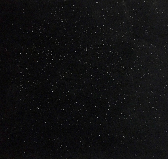 Polvere di stelle,2014-17, black glass, dandruff,cm.30x30x30 (into acrylic box)