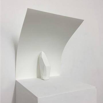 Ricurvo, cast, paper,plinth. cm.30x42x30